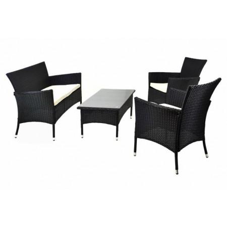 Zahradní nábytek z polyratanu, stůl, křesla, pohovka
