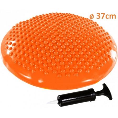 Masážní a rehabilitační polštář na židli 37 cm, oranžový