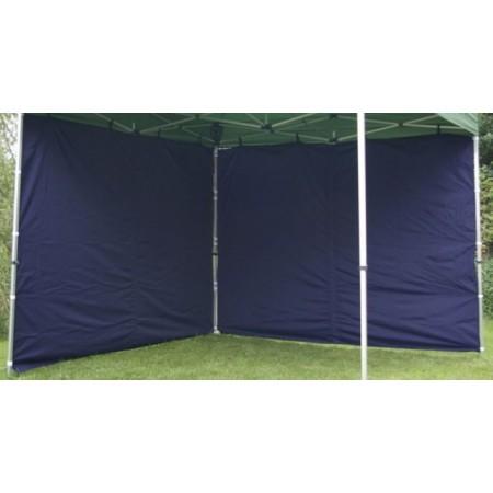 2 boční stěny bez oken pro profi stan, 3x3 m, modrá