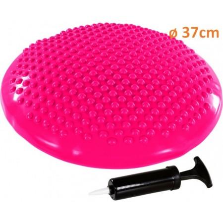 Masážní a rehabilitační polštář na židli 37 cm, růžový