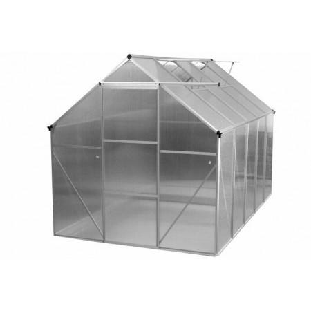 Polykarbonátový zahradní skleník 311x190x195 cm, posuvné dveře