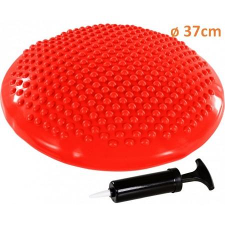 Masážní a rehabilitační polštář na židli 37 cm, červený