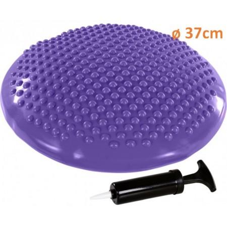 Masážní a rehalibitační polštář na židli 37 cm, fialový