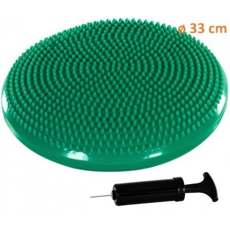 Masážní a rehabilitační polštář na židli 33 cm, tyrkysový