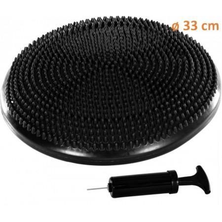 Masážní a rehabilitační polštář na židli 33 cm, černý
