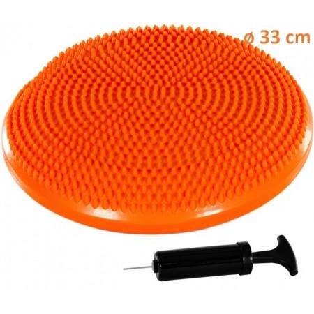 Masážní a rehabilitační polštář na židli 33 cm, oranžový