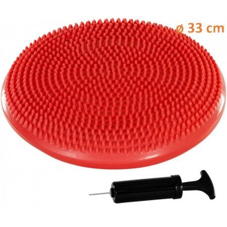 Masážní a rehabilitační polštář na židli 33 cm, červený