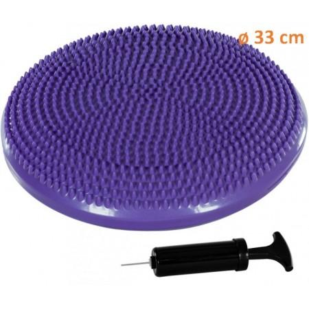 Masážní a rehabilitační polštář na židli 33 cm, fialový