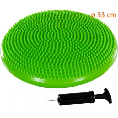 Masážní a rehabilitační polštář na židli 33 cm, zelený