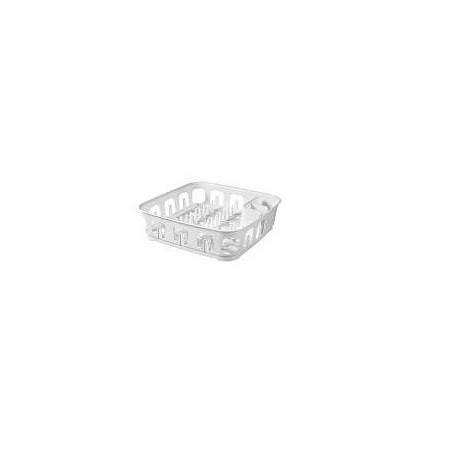 Moderní plastový odkapávač na nádobí, bílý