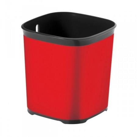 Moderní plastový odkapávač na příbory, červený