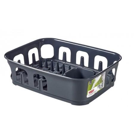 Odkapávač na nádobí obdélníkový, tmavě šedý