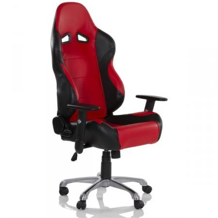 Otočná kancelářská židle na kolečkách- sportovní design, červená / černá