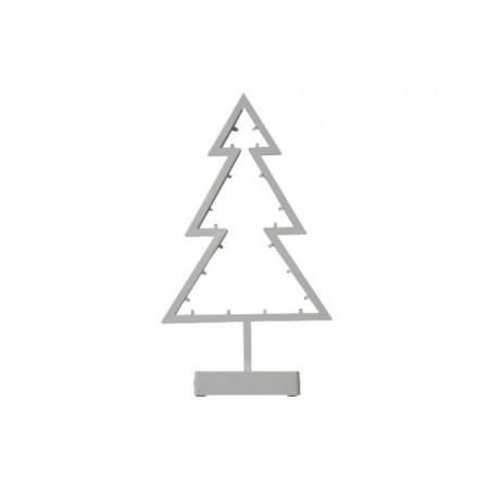 Vánoční výzdoba na okno, vánoční stromek s LED diodami 38 cm
