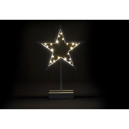 Vánoční výzdoba na okno - svítící hvězda na baterie 38 cm