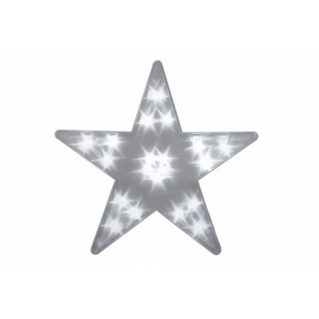 Vánoční výzdoba do bytu na baterie - svítící hvězda s LED diodami 35 cm