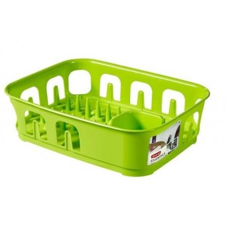 Moderní obdélníkový odkapávač na nádobí, zelený