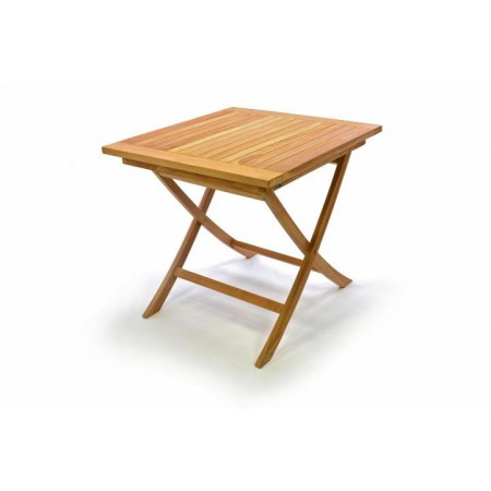 Zahradní dřevěný stolek z týkového dřeva 80x80 cm