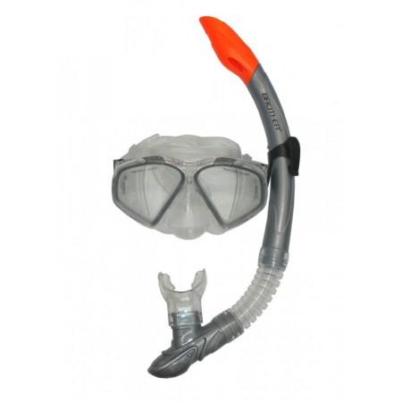 Potápěčské brýle se šnorchlem, krytka proti vodě, šedé