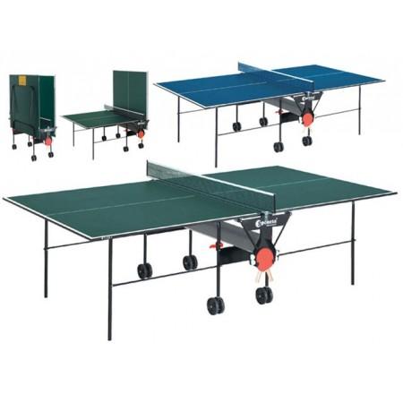 Stůl na stolní tenis vnitřní, s pojezdem, 274x152,5x76cm, modrý