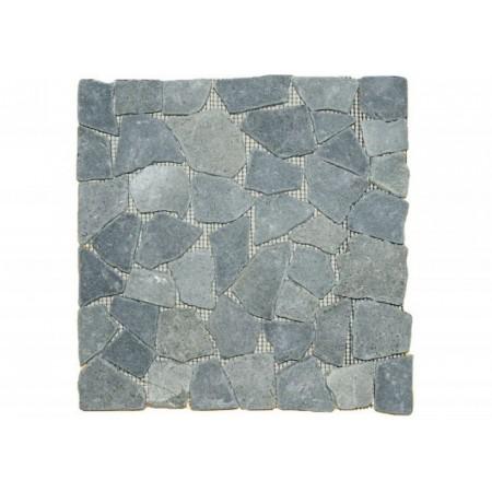 Obklad / dlažba - mozaika z přírodních oblázků, tmavě šedá, 1 m2