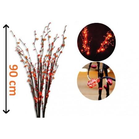 Ozdobné větvičky - dekorativní osvětlení vnkovní / vnitřní 90 cm