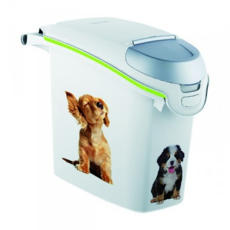 Plastový box na krmivo s potiskem psů, 6 kg krmiva