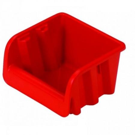 Plastový stohovatelný zásobník č. 1, červený