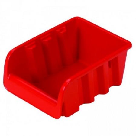 PLastový stohovatelný zásobník č. 2, červený