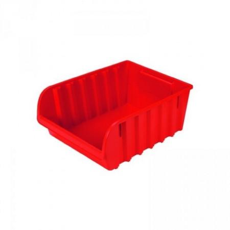 Plastový stohovatelný zásobník č. 6, červený