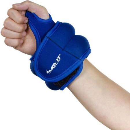 Neoprenová kondiční zátěž na zápěstí a kotníky, 2 x 1 kg, modrá