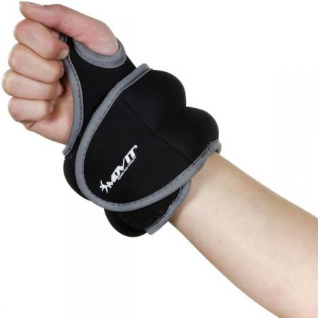 Neoprenová kondiční zátěž na zápěstí a kotníky, 2 x 0,5 kg, černá