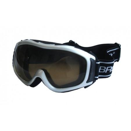 Dámské lyžařské brýle, antifog, UV filtr, stříbrné