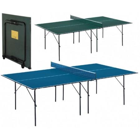 Skládací stůl na stolní tenis, modrý