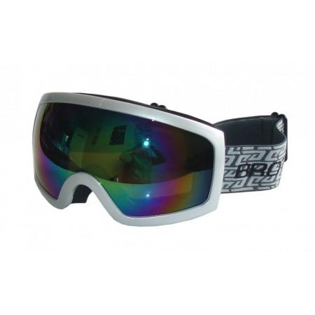 Seniorské lyžařské brýle, antifog, UV filtr, stříbrné