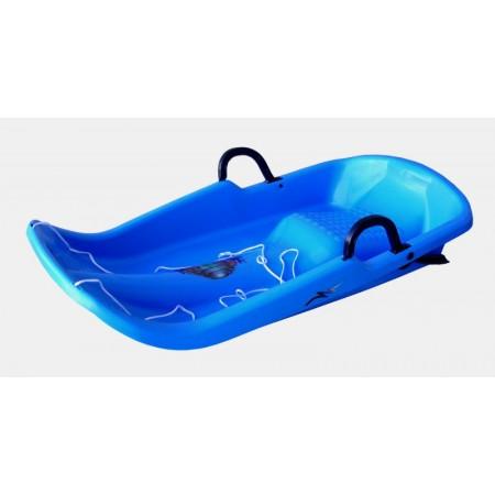 Dětské plastové boby Twister, modré