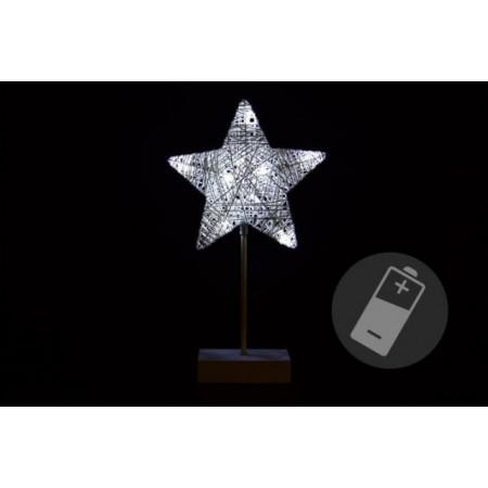 Vánoční hvězda - svítící dekorace do bytu na baterie, 40 cm