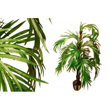 Umělá kokosová palma- kmen z pravého dřeva, 140 cm