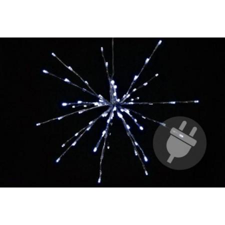 Vánoční osvětlení venkovní / vnitřní, svítící hvězda studeně bílá, 40 cm