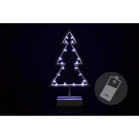 Vánoční dekorace na stůl / parapet na baterie, svítící stromek 38 cm