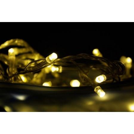 Vánoční LED řetěz venkovní / vnitřní na baterie, teple bílé, 3 m