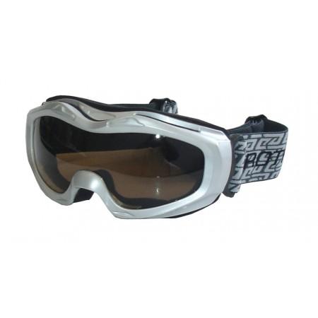 Juniorské lyžařské brýle, antifog, UV filtr, stříbrné
