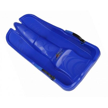 Dětský plastový bob s brzdami, modrý