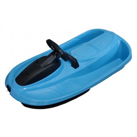 Plastové boby s volantem - dvoumístné, modré