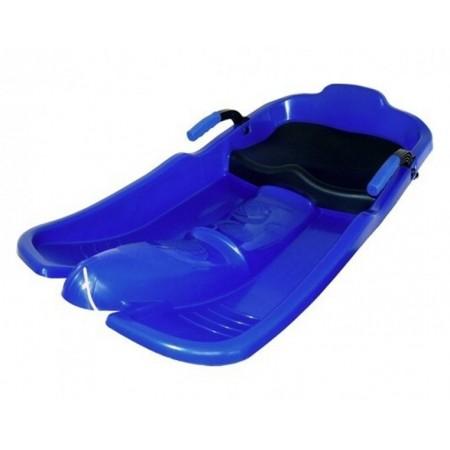Dětské plastové boby se sedátkem Superjet, modré