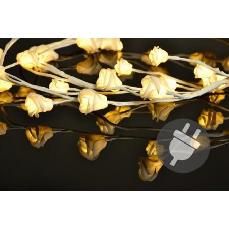 Dekorativní osvětlení do bytu- větvičky se svítícími růžemi, 6 ks