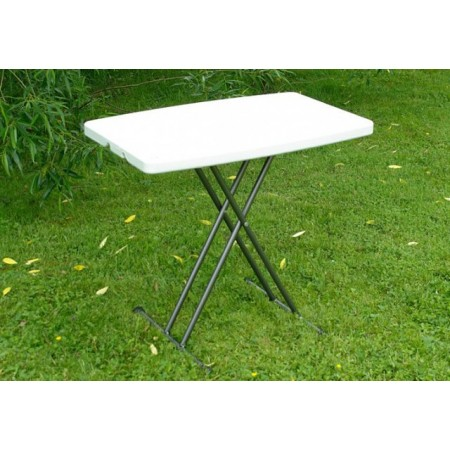 Skládací stůl- kovový rám + pevný plast, 69 x 77 x 49 cm