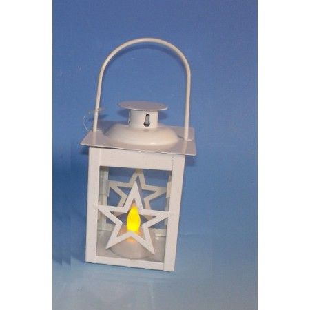 Dekorativní svítící lucernička na baterie, vánoční dekorace