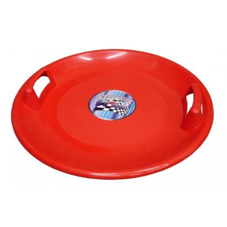 Plastový sáňkovací talíř Superstar 60 cm, červený