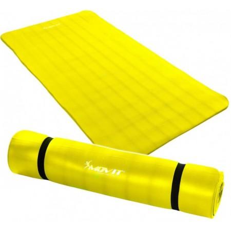 Podložka na cvičení a gymnastiku, NBR pěna 190x100x1,5 cm, žlutá